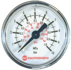 50mm Face Panel Mounted Pressure Gauge 1/8 BSP CBC