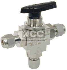 Inch OD 3 Way Instrument Ball Valve