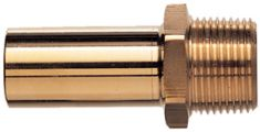 Male Brass Stem Adaptor OD x BSP MM05