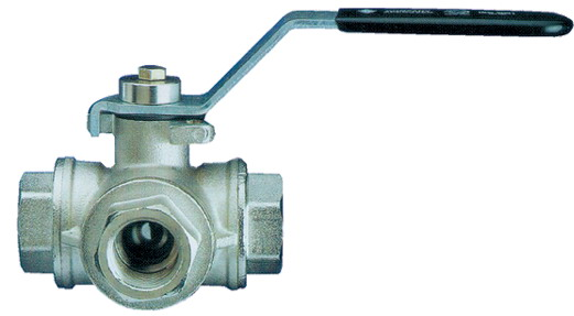 Brass 3 Way L and T Ported Ball Valves